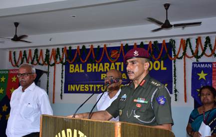 Address by Chief Guest-Principal Sainik School
