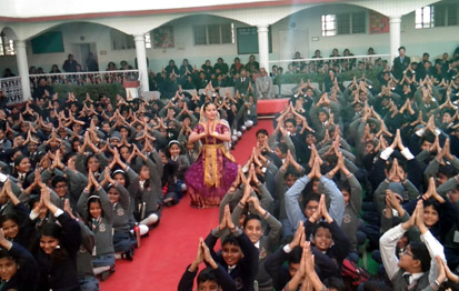 Photo of Meenakshi Medhi with students