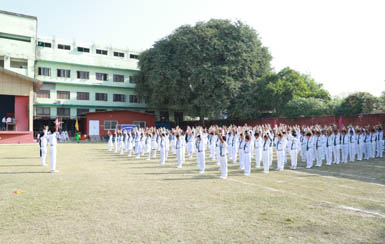 Drill by Primary Students