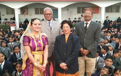 Photo of Meenakshi Medhi with Adm. staff